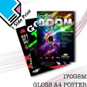 170GSM A4 Gloss Poster